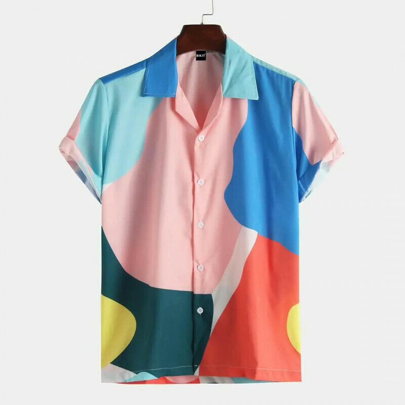 Attractive Colored Floral Print Half Sleeve Shirt