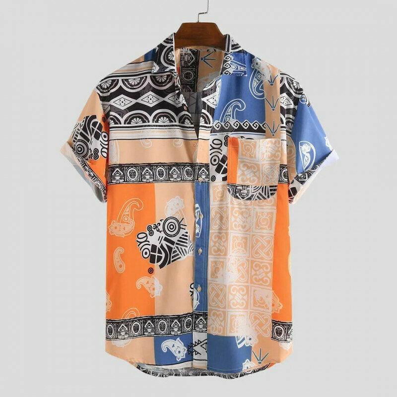 Boys Hawaii Style Oriental Printed Half Sleeves Shirt Online
