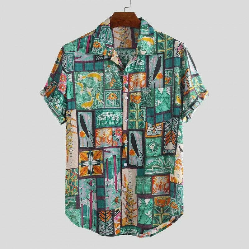 Boys New Multi Printed Half Sleeve Casual Shirt