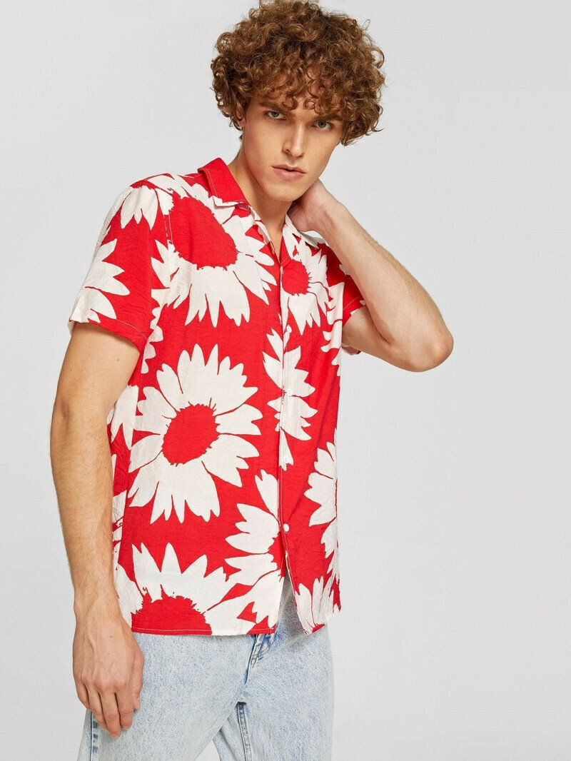Boys  Attractive Prined Floral Shirt