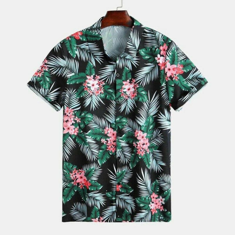 Boys Plants Printed Half Sleeve Summer Shirt