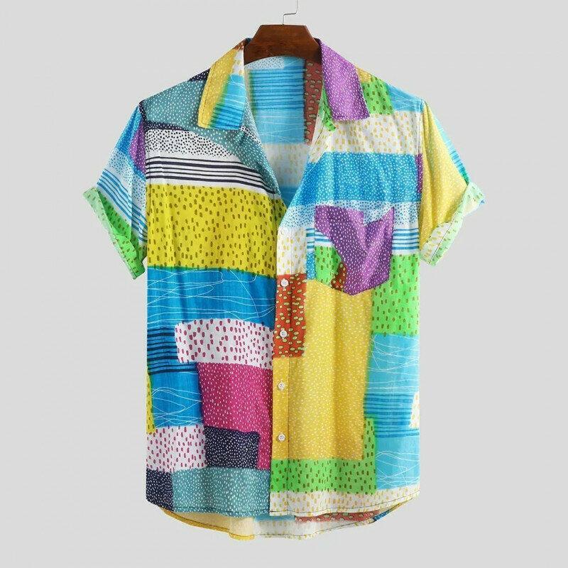 Boys Multicolored Dot Half Sleeve Summer Shirt