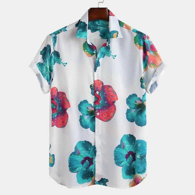 Boys Floral Printed Half Sleeve Shirt