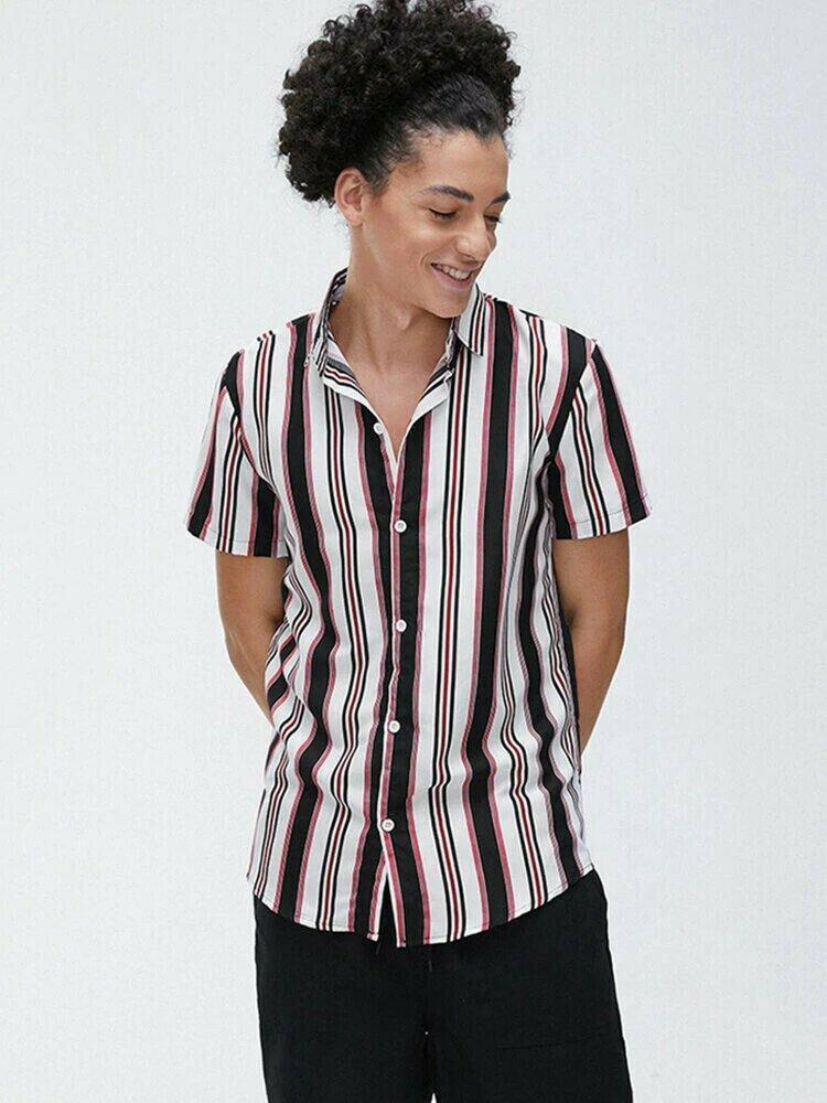 Boys Medium Stripe Half Sleeve Shirt