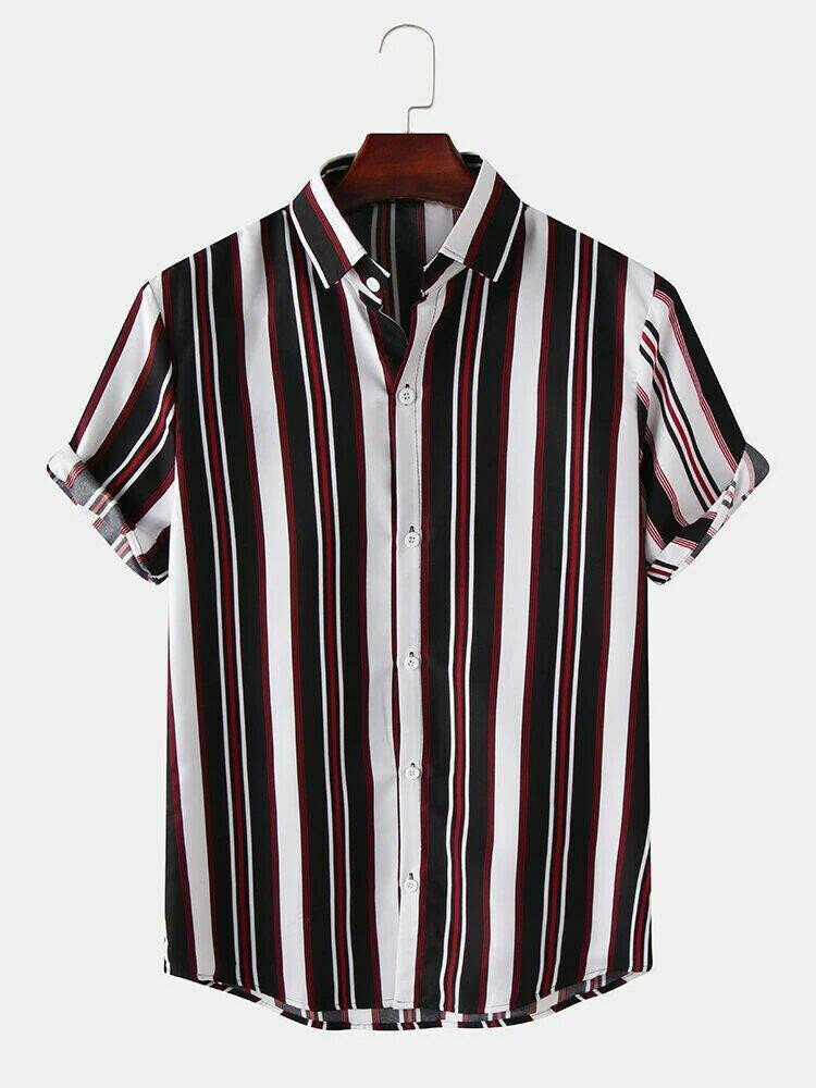 Boys Medium Stripe Half Sleeve Shirt