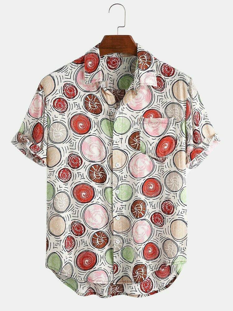 Boys Trendy Printed Cotton Half Sleeve Casual Shirt