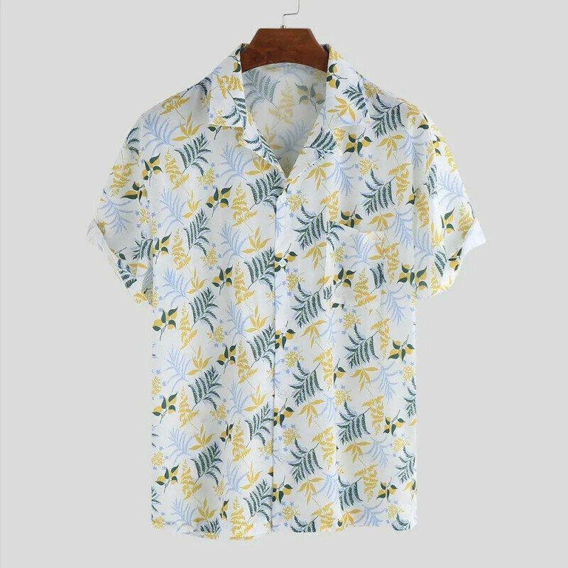 Boys Beach Casual Floral Printed Shirt