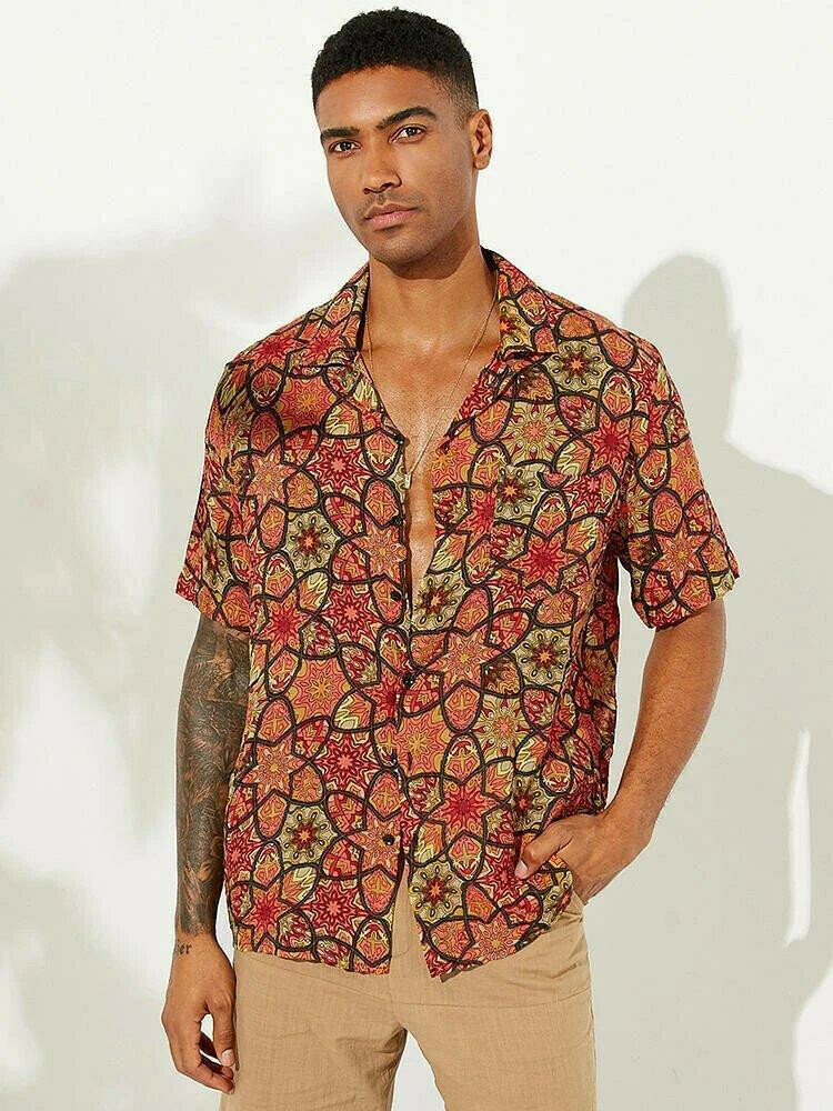 Boys Floral Flower Printed Casual Shirt