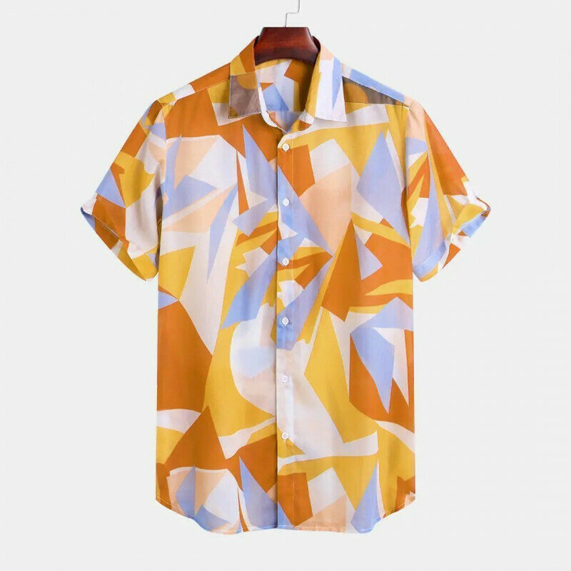 Boys Geometric Color Printed Half Sleeve Relaxed Casual Shirt