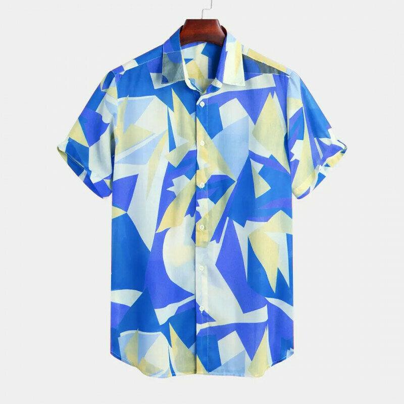 Boys Blue Printed Half Sleeve Casual Shirt
