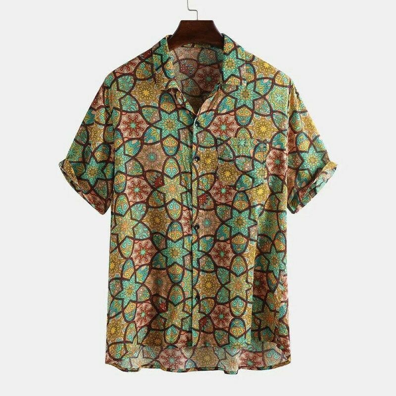 Boys Confusing Designed Floral Printed Casual Shirt