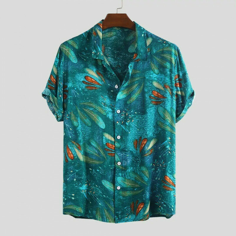 Boys Wear Sky Color Printed Relaxed Casual Shirt