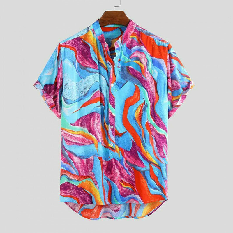 Boys Wear Summer Colorful Printed Holiday Casual Shirt Online