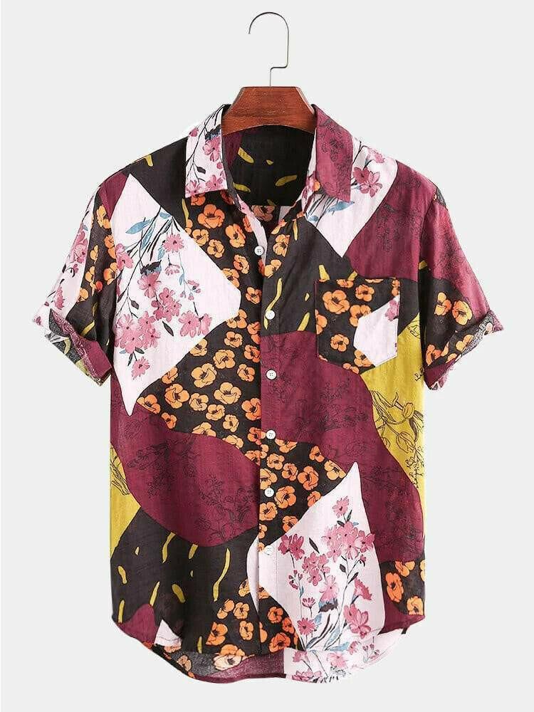Boys Wear New Fashion Flower Printed Half Sleeve Shirt