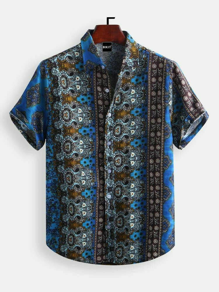 Boys Wears Ethnic Style Sky Printed Fashion Shirt