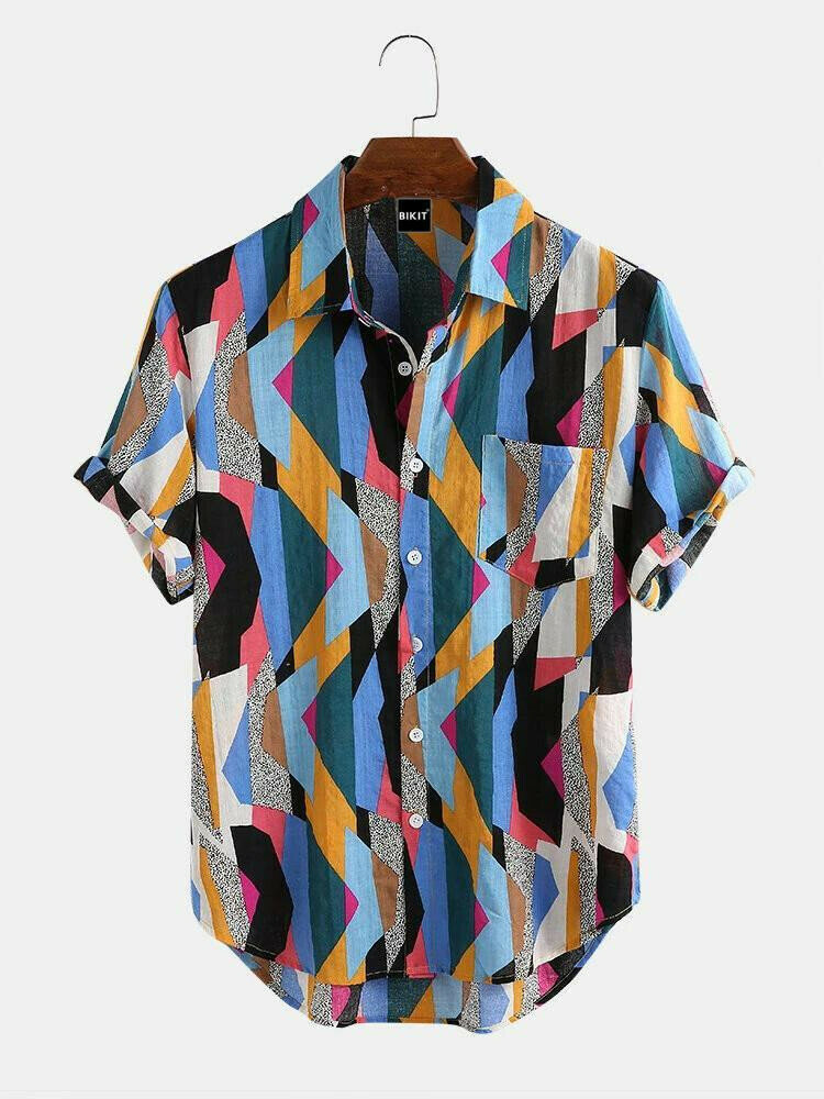 Attractive Colorful Half Sleeve Relaxed Casual Shirt