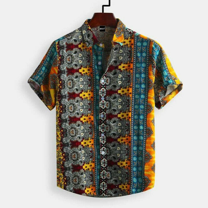 Boys Ethnic Vintage Style Printed Fashion Relaxedshirt