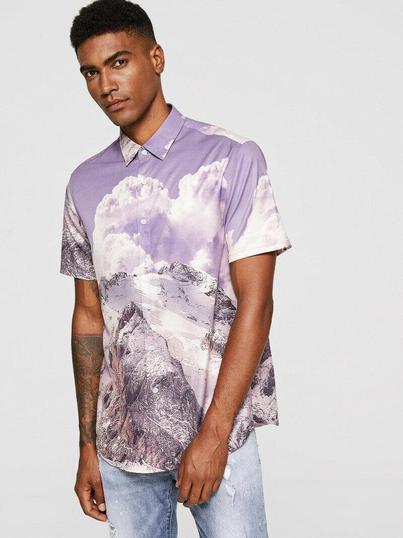 Trendy Landscape Printed Shirt