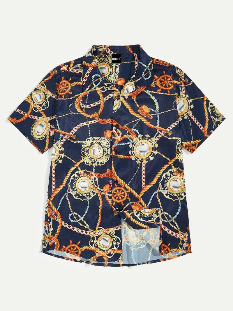 Boys Chain Printed Attractive Shirt