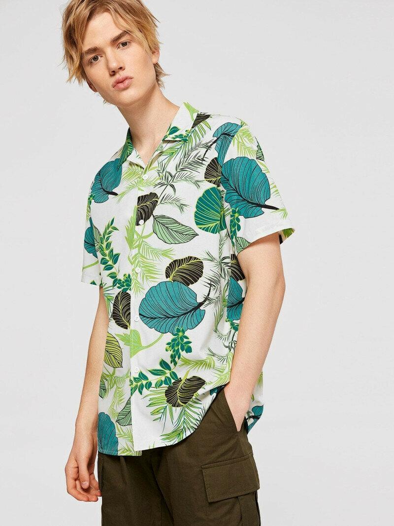 Boy Attractive Leaf Printed Shirt