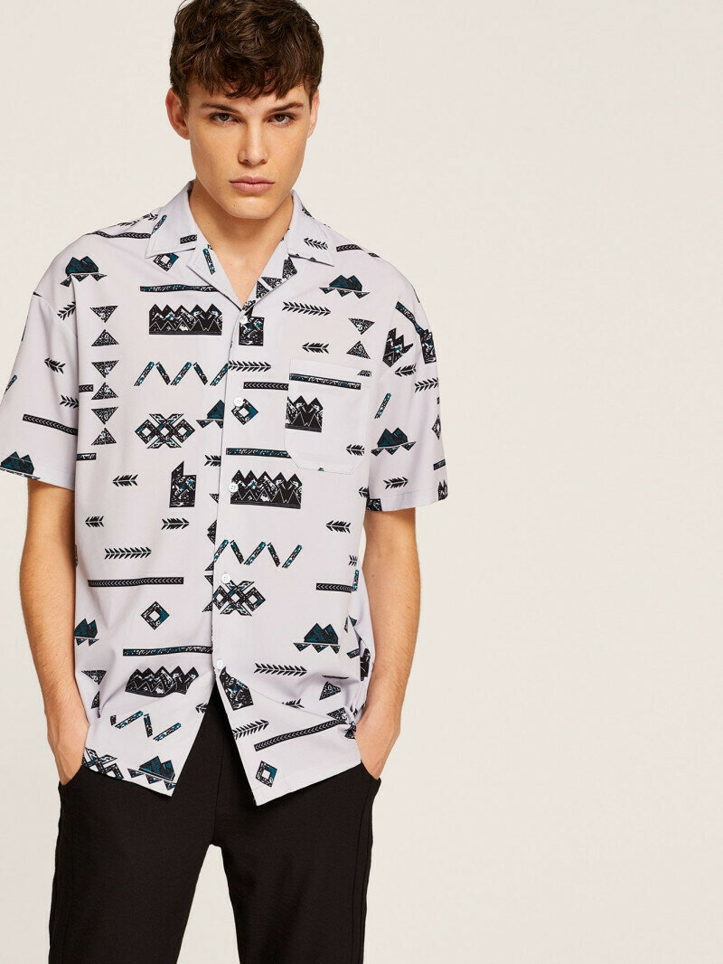 Boy Pocket Front Button Up White Colored Shirt
