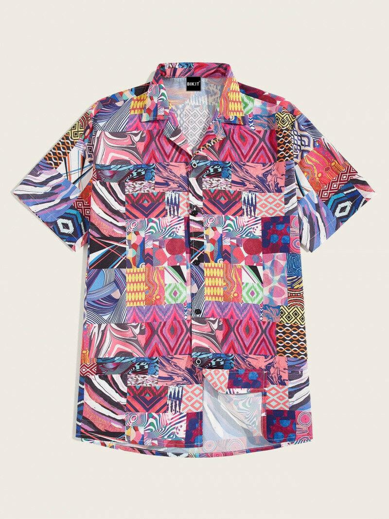 Boy Attractive Tribal Printed Ahlf Sleeves Shirt