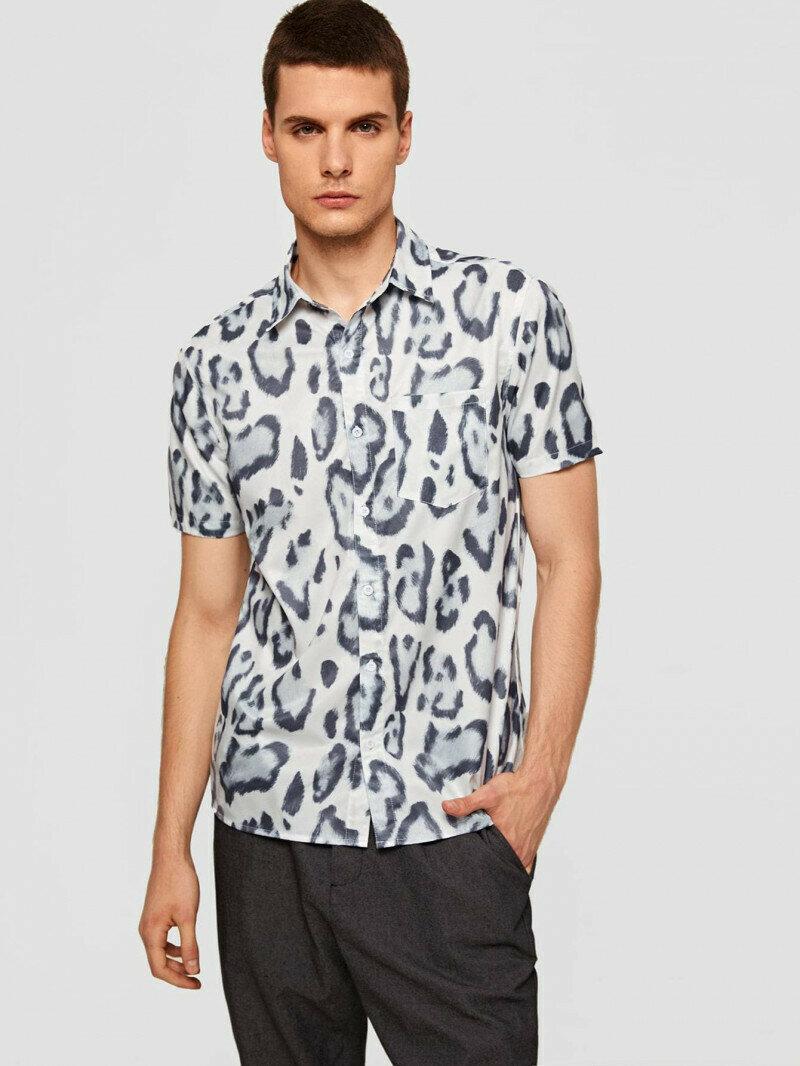 Men Attractive Leopard Printed Shirt