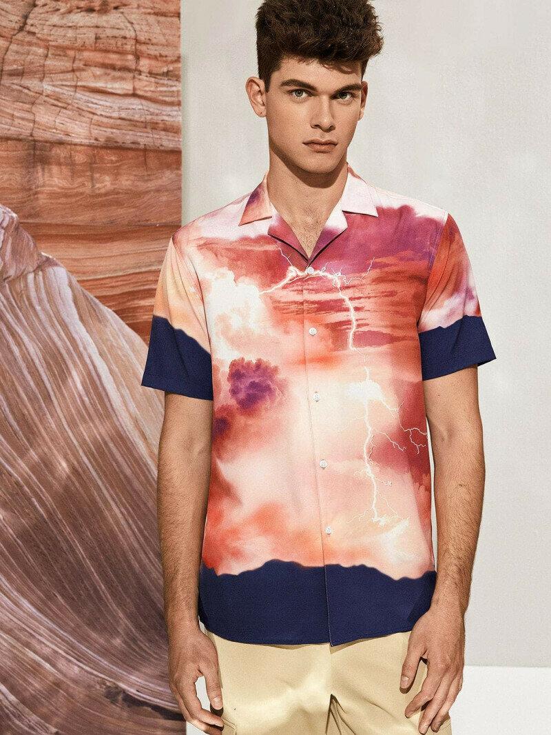 Boys  Attractive Landscape Printed Shirt