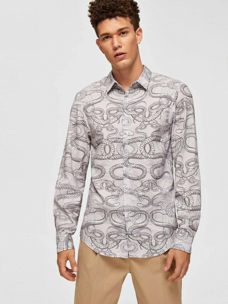 Boy Wear Trendy Allover Snake Printed Half Sleeve Shirt