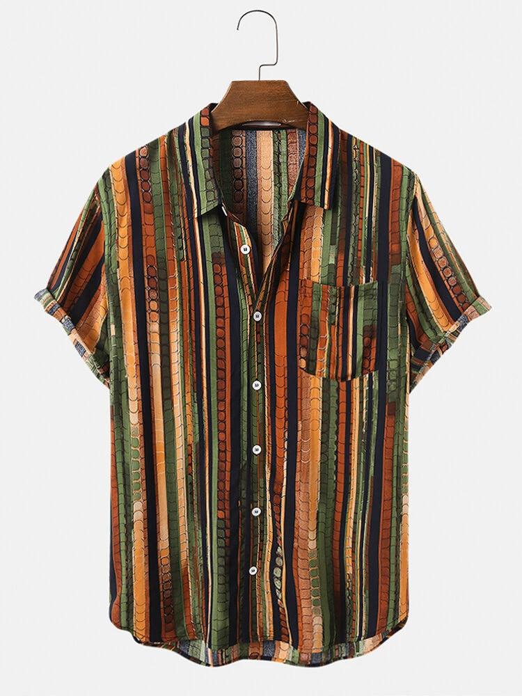 Shirt For Mens Reyon Fabric Printed Half Sleeve