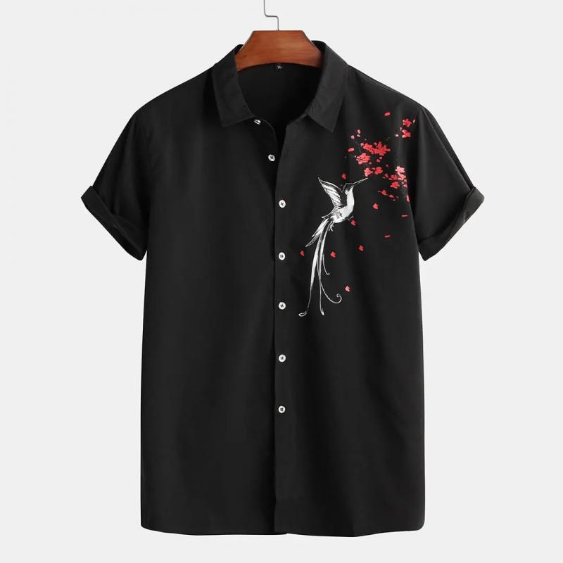 Mens Wear Attractive Black Printed Shirt