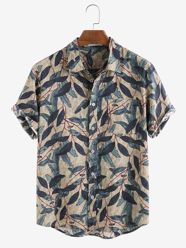 Boys Wear Leaf Prined Trendy Shirt Online