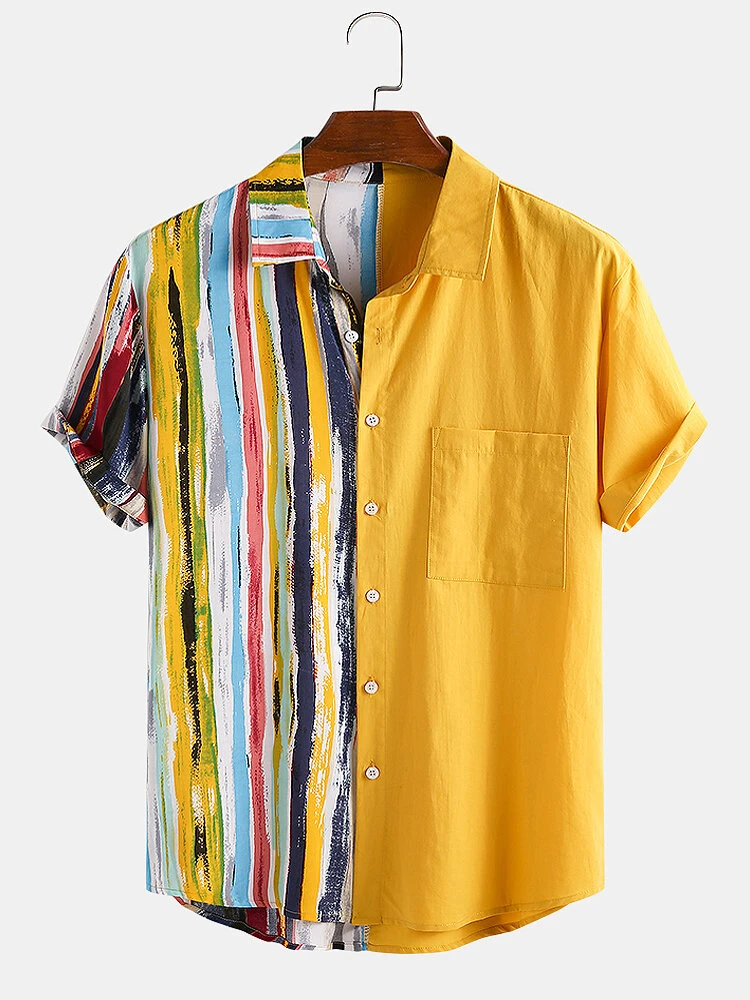 Yelllow And Multicolored Two Sided Trendy Shirt