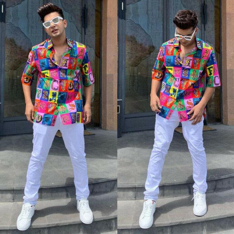 Jass Manak Wear Attractive Multicolored Shirt