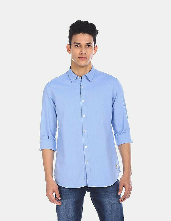 Boys Wear Light Blue Trendy Solid Casual Shirt