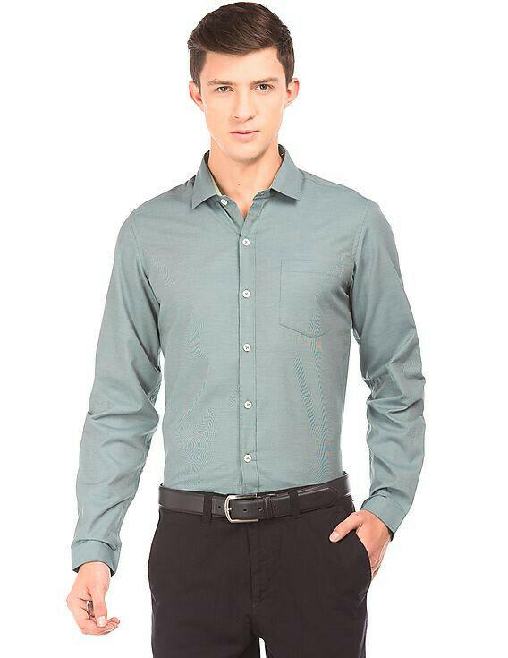 Buy Light Green Formal Wear Full Sleeves Shirt