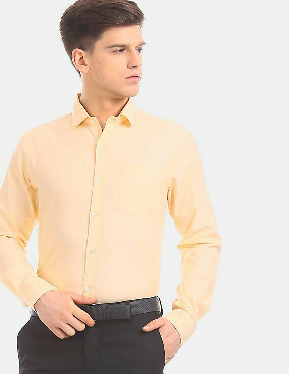 Light Cream Formal Wear Full Sleeves Shirt
