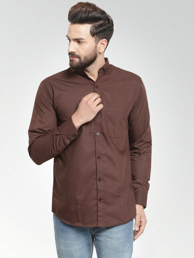 Formal Look Coffee Color Casual Wear Shirt