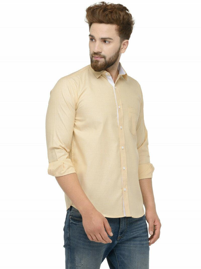 Buy Light Yellow Full Sleeve Shirt Online