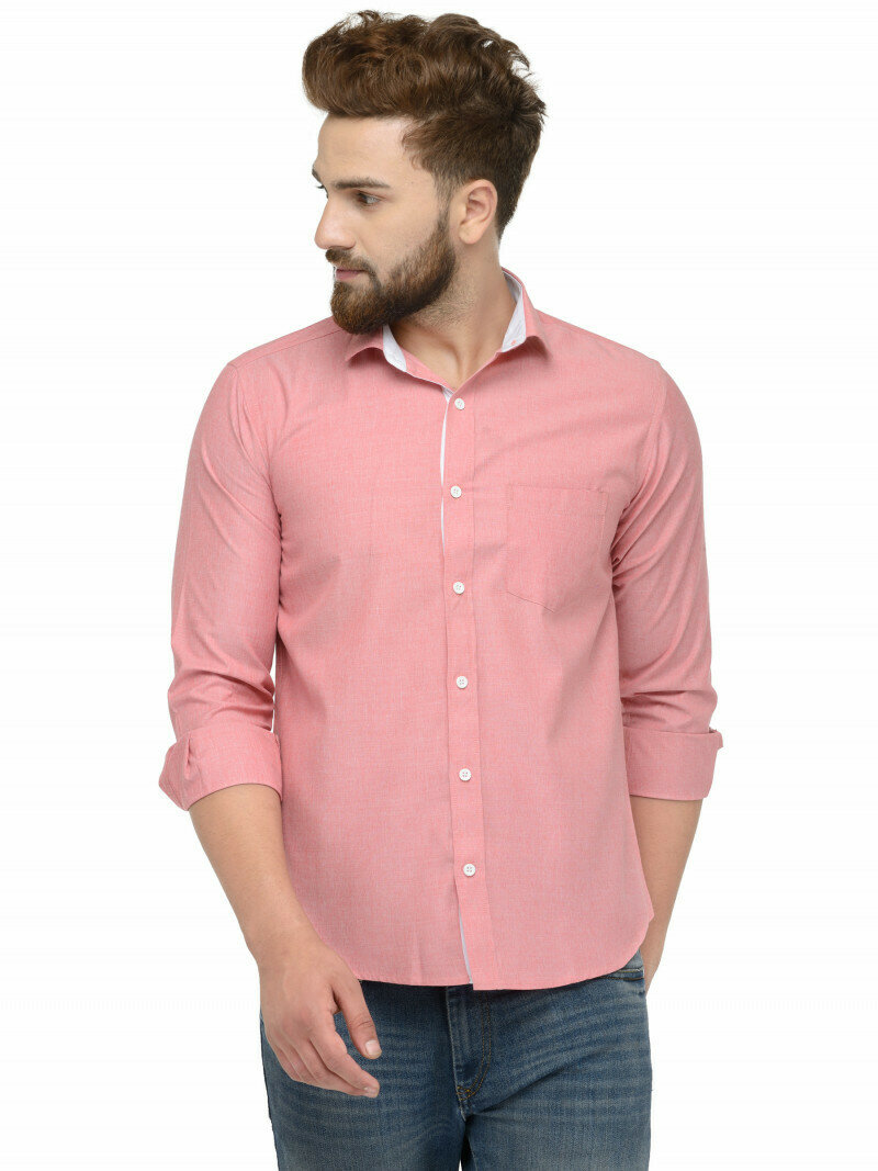 Buy Pink Peach Color Casual Shirt Online