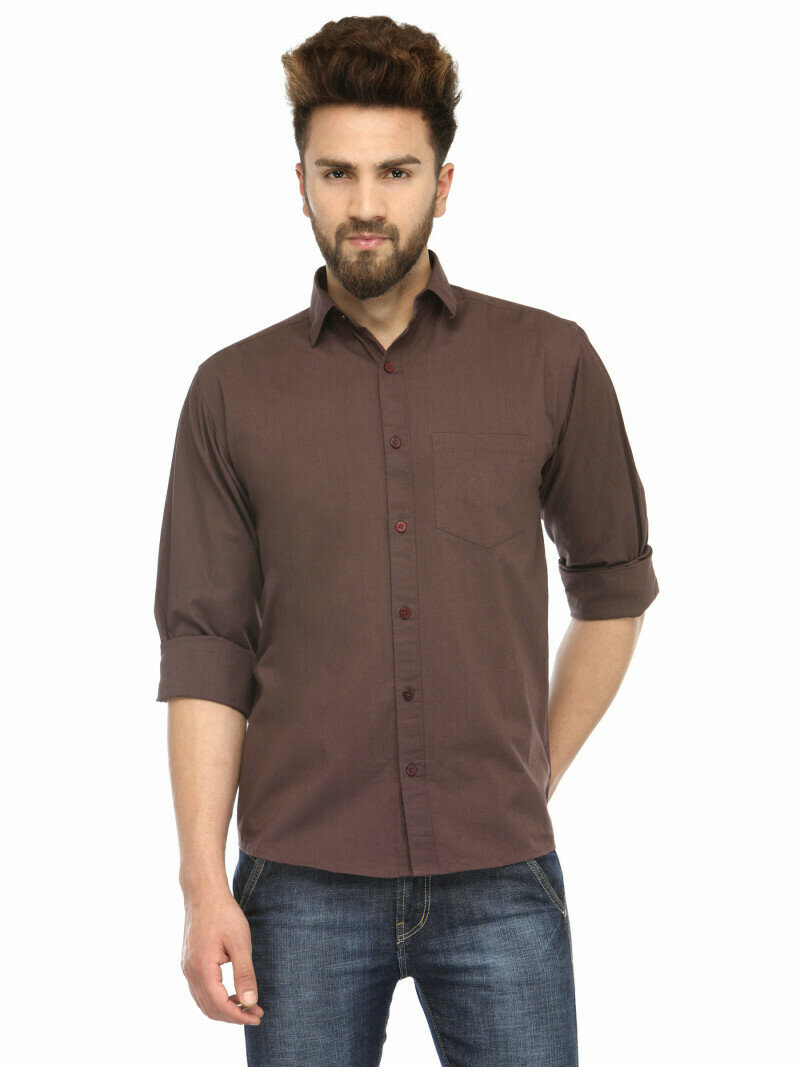 Light Coffee Color Attractive Casual Wear Shirt