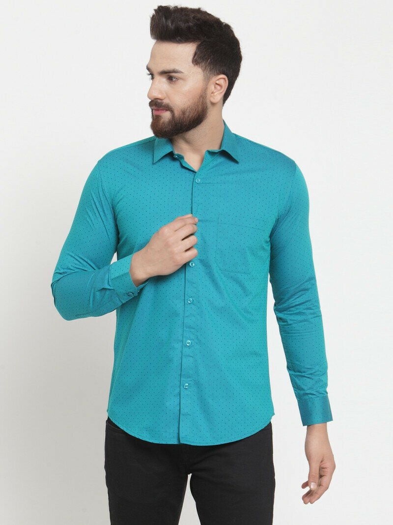 Trendy Green Color Full Sleeve Shirt Online
