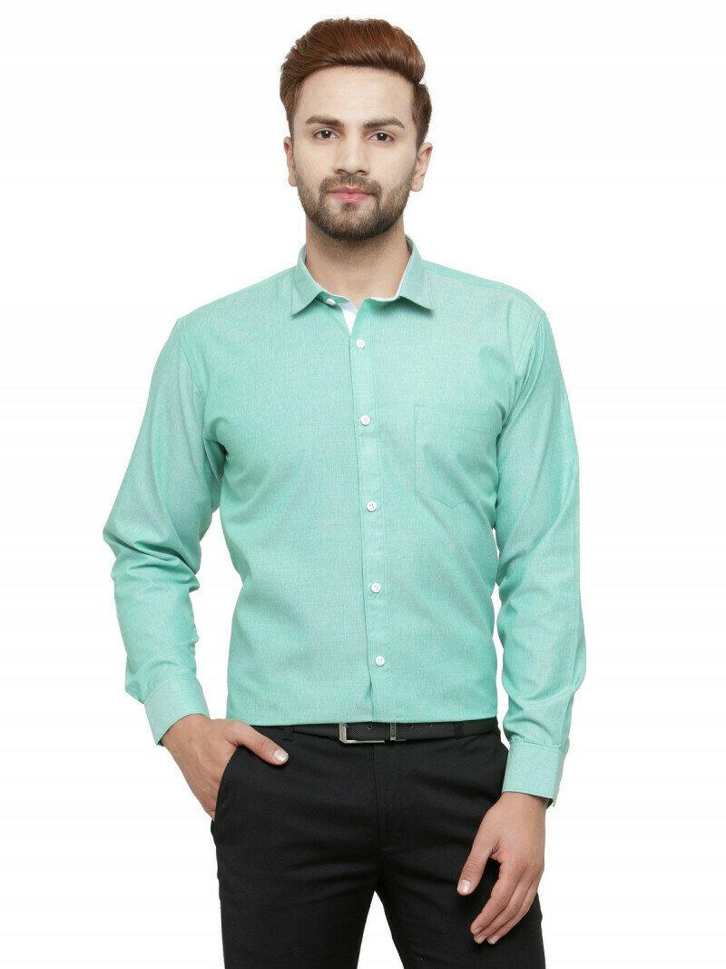 Buy Sky Blue Plain Formal Wear Shirt Online