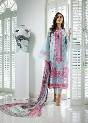 Blue Color Embroidery Salwar Suit