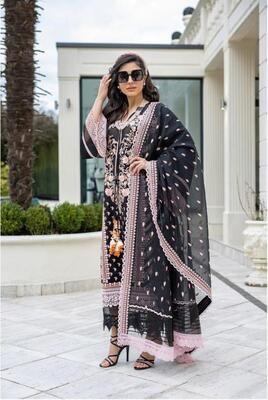 Black Color Embroidery Pakistani Salwar Suit
