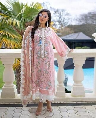 Baby Pink Color Embroidery Pakistani Salwar Suit