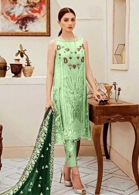 Light Green Color Embroidery Pakistani Salwar Suit