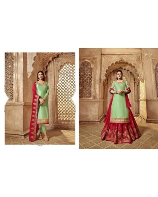 Embroidery and Stonework Georgette with Skirt and Salwar Suit
