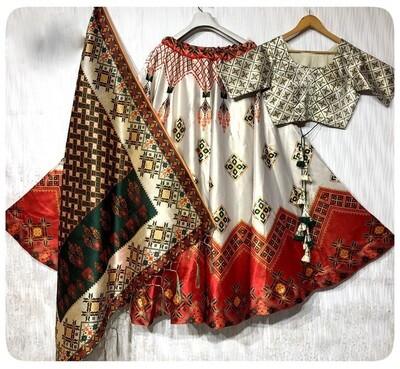 Heavy Festive Wear Fluid Silk Lehenga Choli