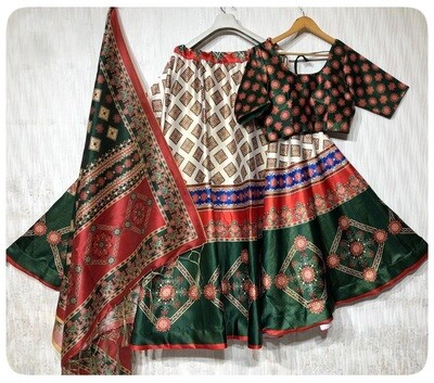 Heavy Silk Designer Digital Print Lehenga Choli